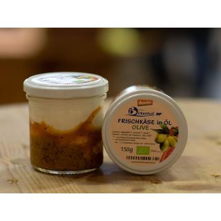 Frischkäse in Öl, Olive, 30 % Fett i.Tr.