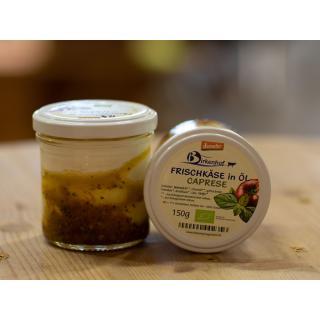 Frischkäse in Öl Caprese, 30 % Fett i.Tr.