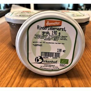 Rinderleberwurst, grob, 190 g